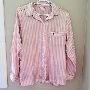 (SET) Victoria's Secret Classic Pink White Pyjama